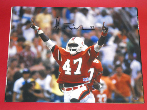 MICHAEL IRVIN AUTOGRAPHED MIAMI HURRICANES 16X20 PHOTO AASH PLAYMAKER COWBOYS