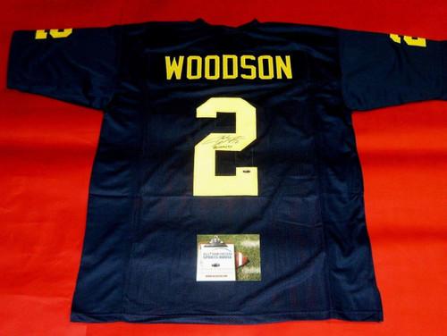 on sale 3d8eb d150b CHARLES WOODSON AUTOGRAPHED MICHIGAN WOLVERINES JERSEY UM ...