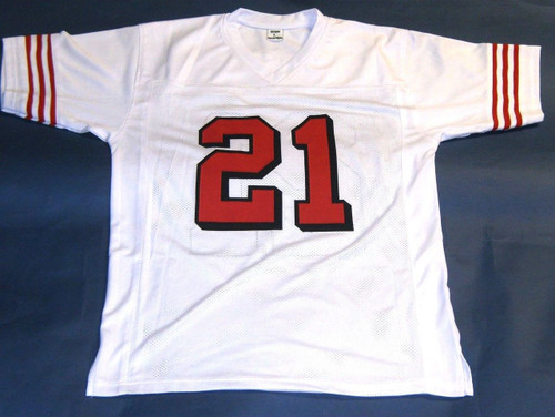 uk availability 26cbb 69996 DEION SANDERS AUTOGRAPHED SAN FRANCISCO 49ERS THROWBACK 75TH JERSEY AASH