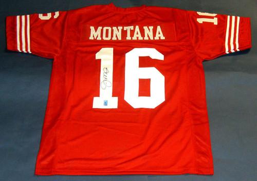 JOE MONTANA AUTOGRAPHED SAN FRANCISCO 49ERS JERSEY MONTANA HOLOGRAM