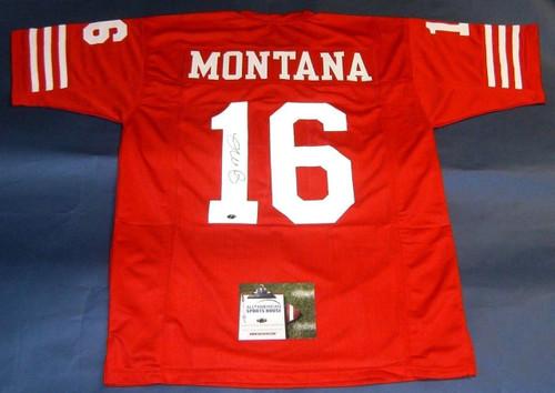 4191e3155 JOE MONTANA AUTOGRAPHED SAN FRANCISCO 49ERS JERSEY AASH