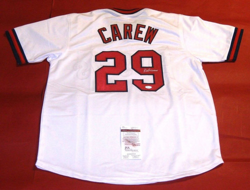 ROD CAREW AUTOGRAPHED CALIFORNIA ANGELS JERSEY JSA