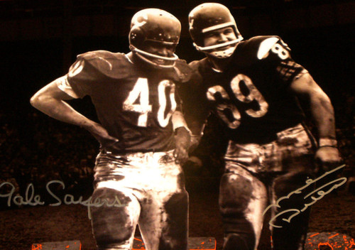 on sale c2879 afdd0 GALE SAYERS MIKE DITKA AUTOGRAPHED 16X20 PHOTO CHICAGO BEARS LEGENDS JSA