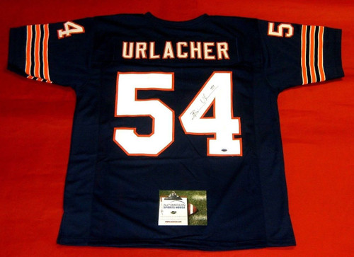BRIAN URLACHER AUTOGRAPHED CHICAGO BEARS JERSEY AASH HOF 2018
