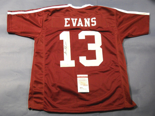 MIKE EVANS AUTOGRAPHED TEXAS A&M AGGIES JERSEY JSA