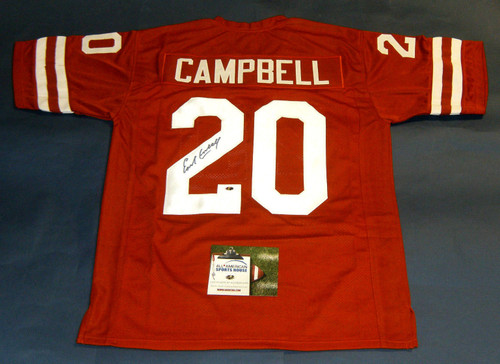 EARL CAMPBELL AUTOGRAPHED TEXAS LONGHORNS JERSEY AASH HEISMAN ORANGE