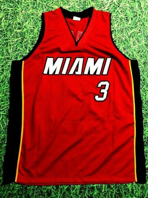 competitive price e00b9 88ce4 DWYANE WADE AUTOGRAPHED MIAMI HEAT R JERSEY AASH