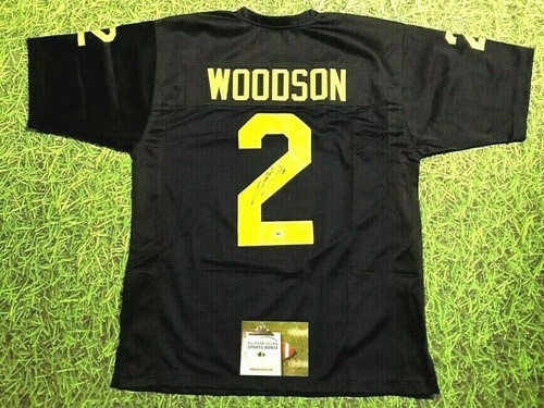 CHARLES WOODSON AUTOGRAPHED MICHIGAN WOLVERINES JERSEY UM AASH HEISMAN READ NOTE