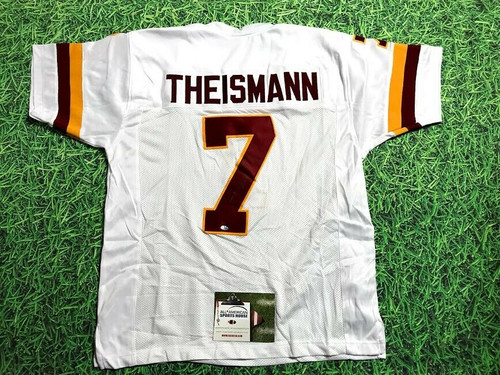 JOE THEISMANN AUTOGRAPHED WASHINGTON REDSKINS W JERSEY AASH