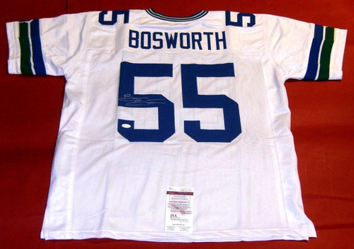 BRIAN BOSWORTH AUTOGRAPHED SEATTLE SEAHAWKS THROWBACK W JERSEY JSA