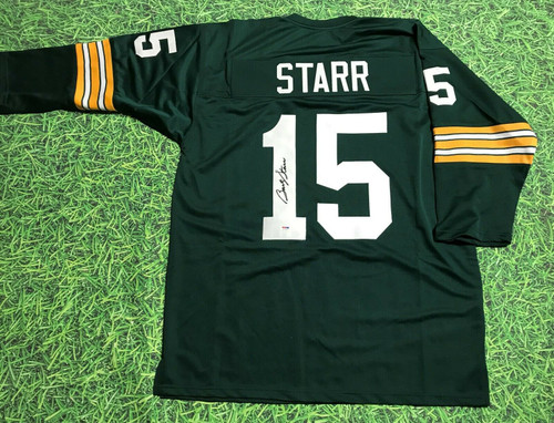 BART STARR AUTOGRAPHED GREEN BAY PACKERS 3/4 SLEEVE JERSEY PSA/DNA