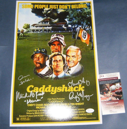 CADDYSHACK AUTOGRAPHED 11X17 MOVIE PHOTO NOONAN LACEY SPAULDING JSA