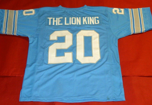 BARRY SANDERS CUSTOM DETROIT LIONS JERSEY THE LION KING