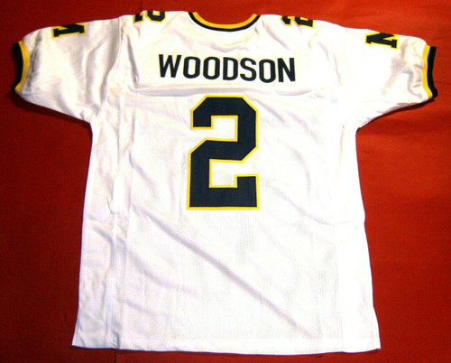 CHARLES WOODSON CUSTOM MICHIGAN WOLVERINES W JERSEY BLOCK M