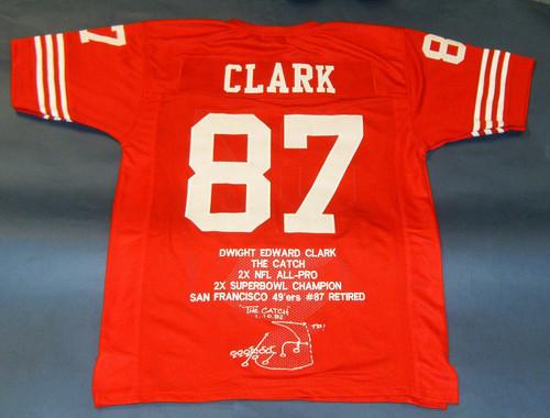 DWIGHT CLARK CUSTOM SAN FRANCISCO 49ERS STAT JERSEY THE CATCH