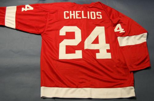 CHRIS CHELIOS CUSTOM DETROIT RED WINGS JERSEY