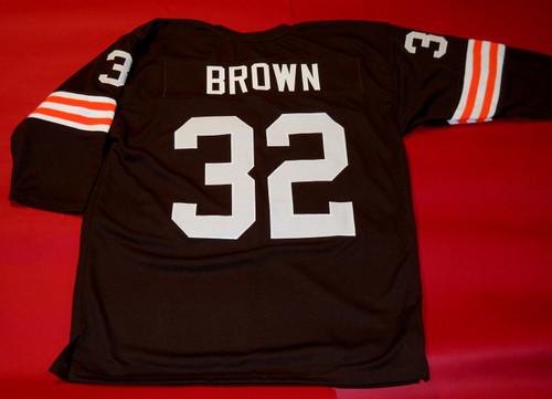 JIM BROWN CUSTOM CLEVELAND BROWNS 3/4 JERSEY