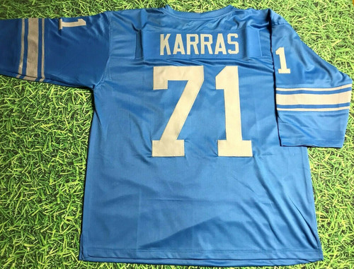 ALEX KARRAS CUSTOM DETROIT LIONS THROWBACK JERSEY WEBSTER READ
