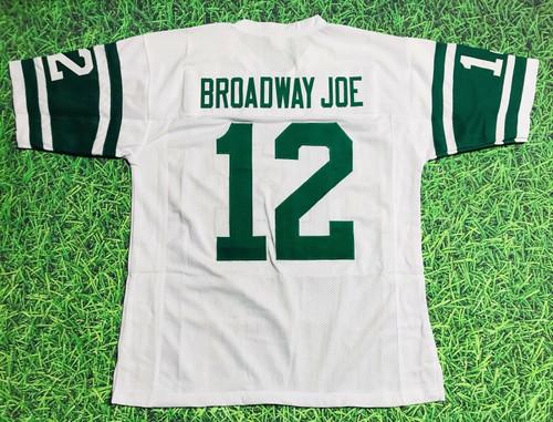 JOE NAMATH CUSTOM NEW YORK JETS W JERSEY BROADWAY JOE
