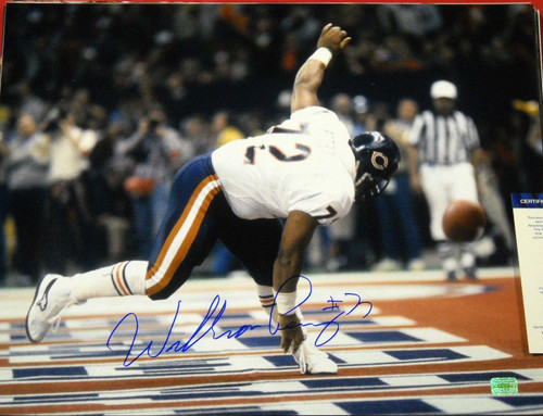 WILLIAM PERRY AUTOGRAPHED CHICAGO BEARS 16X20 PHOTO AASH THE REFRIGERATOR