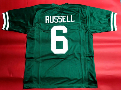 BILL RUSSELL CUSTOM BOSTON CELTICS FOOTBALL STYLE JERSEY