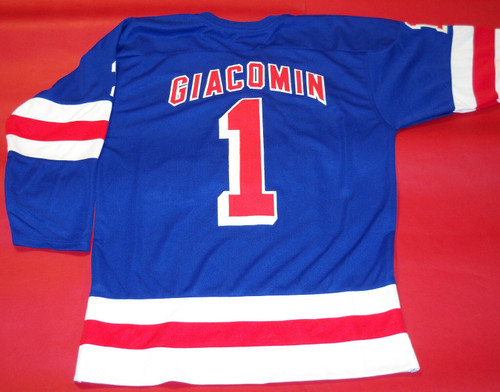 ED GIACOMIN CUSTOM NEW YORK RANGERS JERSEY