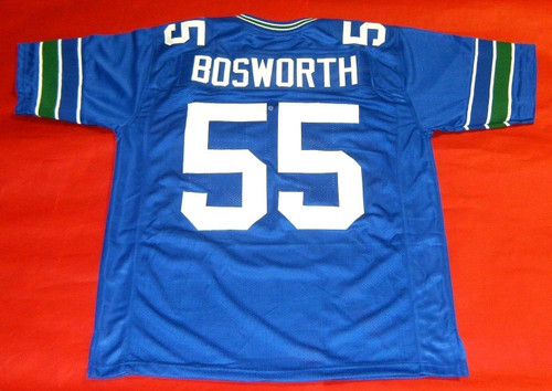 BRIAN BOSWORTH CUSTOM SEATTLE SEAHAWKS THROWBACK JERSEY THE BOZ