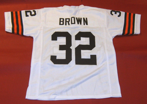 JIM BROWN CUSTOM CLEVELAND BROWNS W JERSEY