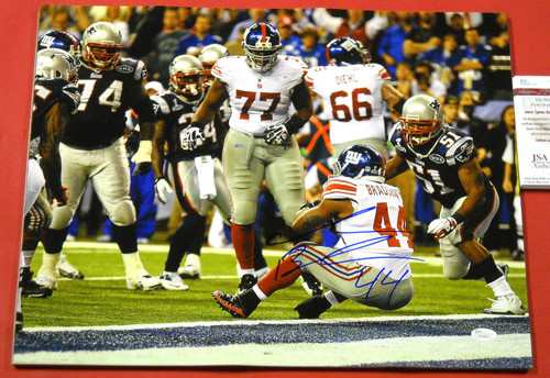 AHMAD BRADSHAW AUTOGRAPHED NEW YORK GIANTS 16X20 PHOTO JSA SUPER BOWL 46 TD
