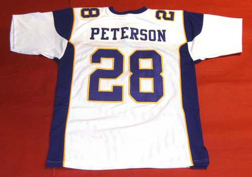 ADRIAN PETERSON CUSTOM MINNESOTA VIKINGS WHITE JERSEY RB
