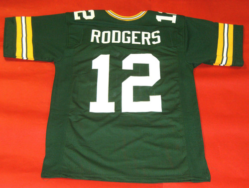 AARON RODGERS CUSTOM GREEN BAY PACKERS JERSEY