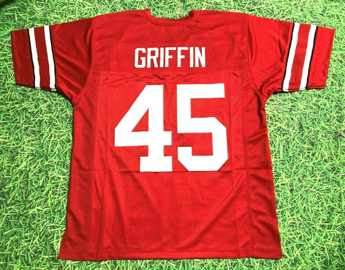 ARCHIE GRIFFIN CUSTOM COLLEGE STYLE THROWBACK BW JERSEY HEISMAN