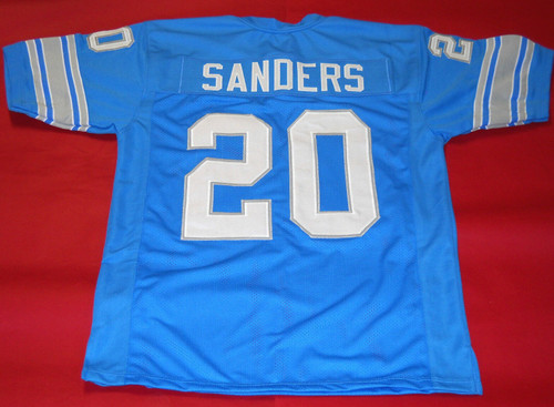 BARRY SANDERS CUSTOM DETROIT LIONS JERSEY