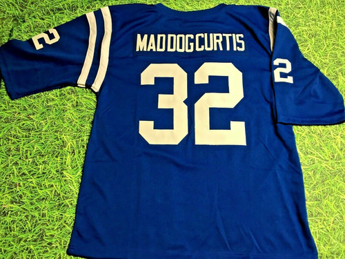 MIKE CURTIS CUSTOM BALTIMORE COLTS THROWBACK B 3/4 SLEEVE JERSEY MAD DOG CURTIS