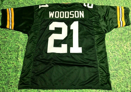 CHARLES WOODSON CUSTOM GREEN BAY PACKERS JERSEY READ