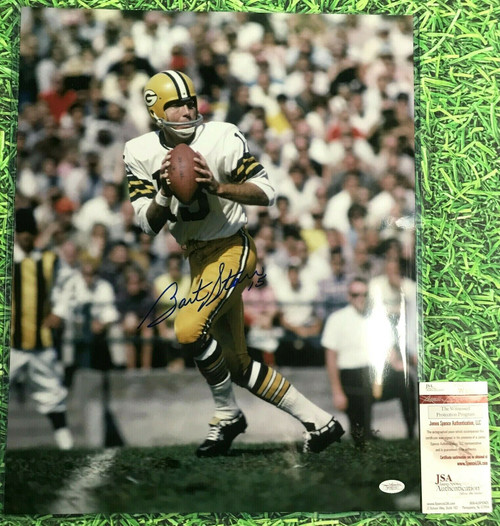 BART STARR GREEN BAY PACKERS AUTOGRAPHED 16X20 PHOTO JSA