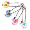 Jumbo Ducks Steel Locking Diaper Pins - 4