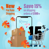 New Flat Rate & Shipping Discounts!