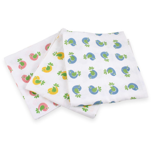 Felicity Large Cotton Muslin Flat Diapers