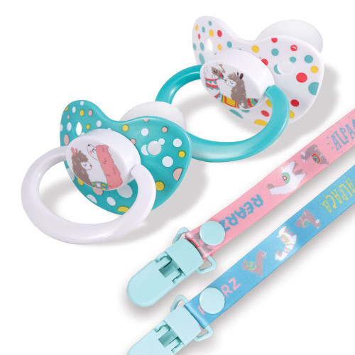 Alpaca Pacifier and Clip 2 Pack