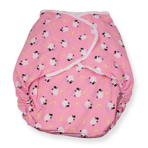 Omutsu Bulky Nighttime Cloth Diaper - Pink Sheep