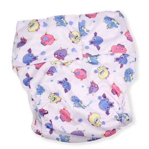 Adult Pocket Diaper - Lil' Monsters