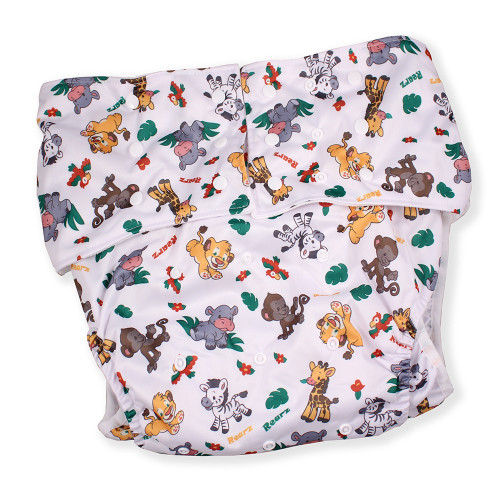 Adult Pocket Diaper - Safari