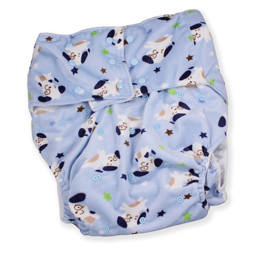 Adult Minky Pocket Diaper - Puppies