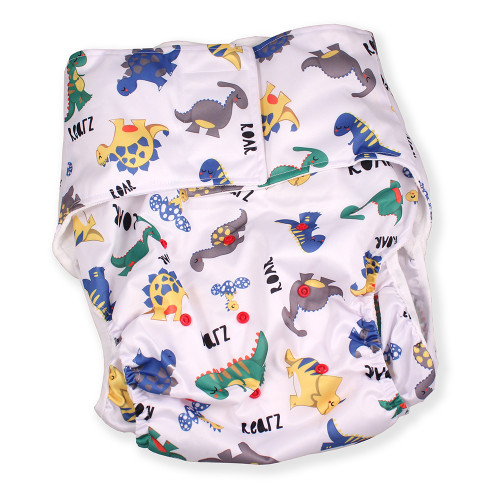 Dinosaur Luxury Adult Pocket Diaper