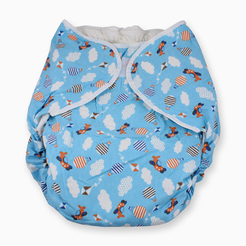 Omutsu Bulky Nighttime Adult Cloth Diaper - Planes