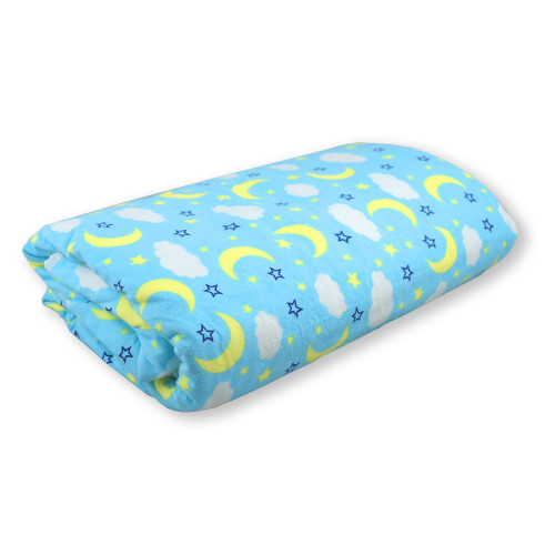 Jumbo Heavy Duty Overnight Bed Pad - Blue Clouds