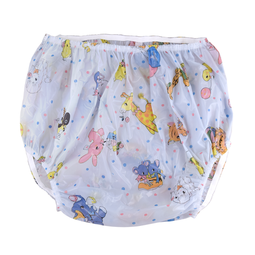Christy Plastic Pants - Blue Nursery Print