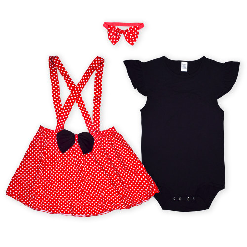 Polka Dot Littles Outfit with Bow