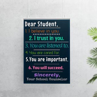 Dear Student Poster